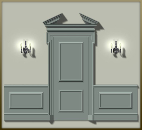 oak and painted period style panelling