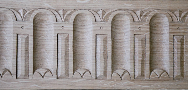 oak carving